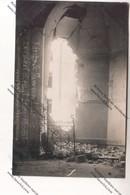 Rare CARTE PHOTO Militaria WW1 LILLE (59) : Intérieur église St Sauveur Englische Fliegerbombe  Feldpost 403 - Oorlog 1914-18