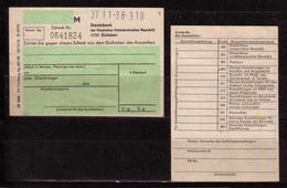 263g * DDR * BLANCO SCHECK DER STAATSBANK EISLEBEN **!! - Cheques & Traverler's Cheques