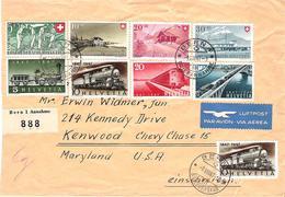 Schweiz Suisse 1947: Zu 277-280+PP 34-37 Mi 480-487 Yv 437-443 R-GROSS-Brief Mit O BERN 9.VIII.47 > USA (Zu CHF 25.00) - Pro Patria