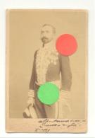 Photo Sur Carton ( Grand Modèle) D'un Gouverneur, Préfet,..en Grande Tenue Datée De 1897 Avec Dédicace.  (b257) - Photos