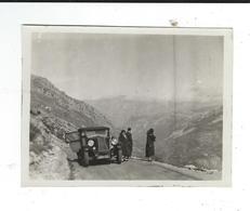 Photo Amateur 8/10 Renault Monasix 1927 6 Cylindres Cabriolet Sur La Route Des Alpes - Automobile