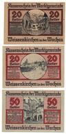 Austria Notgeld Lot / Set - WEISSENKIRCHEN X 3 - Oesterreich