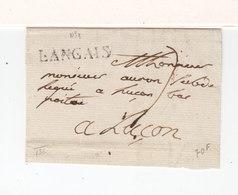 Sur Partie De Lettre Pour Luçon Marque Linéaire Langais Indre Et Loire. (2468x) - 1701-1800: Précurseurs XVIII
