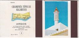 POCHETTE D'ALLUMETTE - Matchcovers Matchbook From Portugal - CHAMINÉS DO ALGARVE - FARO - MAP - Matchbox Labels