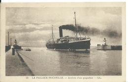 LA  PALLICE-ROCHELLE   (   CHARENTE MARITIME  )     ARRIVÉE D 'UN PAQUEBOT - Francia