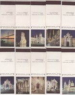 POCHETTE D'ALLUMETTE - Matchcovers Matchbook From Portugal - PORTUGAL NOCTURNO - LISBOA MONUMENTS - COMPLET SET X 16 - Matchbox Labels