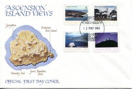 Ascension 1983 Island Views - 1st Issue FDC Cover - Ascension