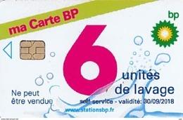 # Carte A Puce Portemonnaie Lavage BP Ma Carte BP 6u Puce1? Validité 30/09/2018 Ne Peut être Vendue -tres Bon Etat- - Frankrijk