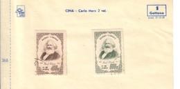 CINA 1953 Karl Marx 400+800 Usati Cod.fra.1192 - 1949 - ... Repubblica Popolare