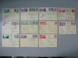Entier Postal  De Suisse    Lot De    (11) Carte Postale  - Postkarte - Cartolina Postale     à Voir - Entiers Postaux