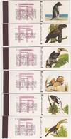 POCHETTE D'ALLUMETTE - Matchcovers Matchbook From Portugal - BIRDS BIRD - OISEAUX - COMPLET SET X 24 - Matchbox Labels