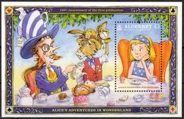 Alderney MiNr. Bl. 37 ** Alice Im Wunderland - Alderney