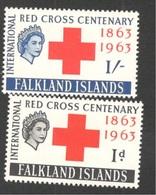 FALKLAND I.1963: RED CROSS Michel 142-3 Mnh** Cat.Value $39 - Falkland Islands