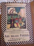 Protège Cahier Aux 100.000 Paletots CAUDRY  L Huitre Et Les Plaideurs Fable De La Fontaine - Publicidad