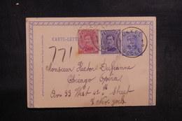 BELGIQUE - Entier Postal + Compléments De Ukkel Pour New York En 1922 - L 39091 - Letter-Cards