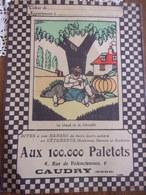 Protège Cahier Aux 100.000 Paletots CAUDRY  Le Gland Et La Citrouille  Fable De La Fontaine - Publicidad