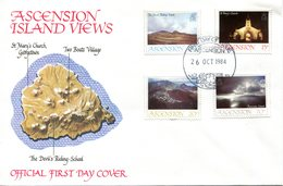 Ascension 1984 Island Views - 2nd Issue FDC Cover - Ascension