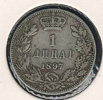 Serbien, 1 Dinar 1897, Silber - Serbien