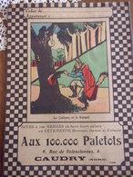Protège Cahier Aux 100.000 Paletots CAUDRY  Le Corbeau Et Le Renard  Fable De La Fontaine - Publicidad
