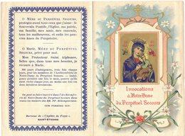 INVOCATIONS A NOTRE DAME DU PERPETUEL SECOURS IMAGE PIEUSE HOLY CARD SANTINI PRENTJE - Imágenes Religiosas