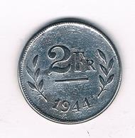 2 FRANC 1944 BELGIE /6137/ - 1934-1945: Leopold III