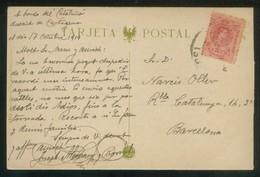 Blanes. TP Autógrafa Josep Alemany I Borràs Dirigida A Narcís Oller I Moragas. Circulada 1919. - Autógrafos