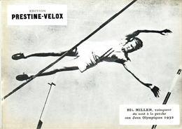 Prestine-Velox Bil Miller Vainqueur Saut à La Perche Jeux Olympiques 1932... Athlétisme Athletic En TB.Etat - Otros