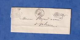 """Lettre Anciene De 1868 - GRENOBLE - Alphonse RABATEL Avoué Prés La Cour - Cachet """" Aprés Le Départ """" - Marcophilie (Lettres)"""