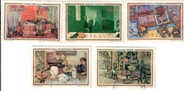 JUGOSLAVIA 1973 Arte Jugoslava 5 Valori Fra.1196 - 1945-1992 Repubblica Socialista Federale Di Jugoslavia