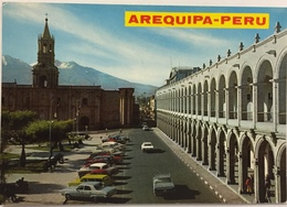 (787) Peru - Arequipa - Main Square With The ' Portics ' - Pérou