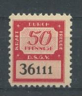 WW II KdF Sparmarke 50 Pfg , Mit Vollem Originalgummi. Selten Angeboten. - Briefe U. Dokumente
