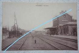 CPA GOUGNIES Gerpinnes Sart Eustache La Gare Train Chemin De Fer Trein - Gerpinnes