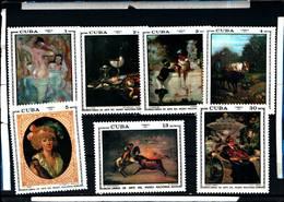 6583B)  CUBA 1973-OPERE D'ARTE DEL MUSEO NAZIONALE - SERIE COMPLETA -MNH** - Nuovi