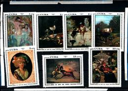 6583B)  CUBA 1973-OPERE D'ARTE DEL MUSEO NAZIONALE - SERIE COMPLETA -MNH** - Cuba