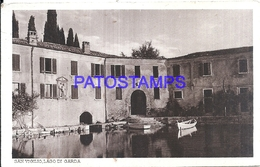 117866 ITALY SAN VIGILIO LAGO DI GARDA VIEW PARTIAL POSTAL POSTCARD - Italy