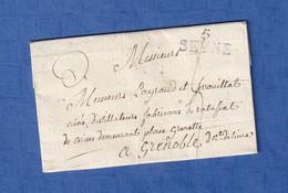 Lettre Ancienne De 1818 - SEYNE - Achat De Liqueur à Messieurs Payraud & Ferrouillat Distillateur à Grenoble - Marcophilie (Lettres)