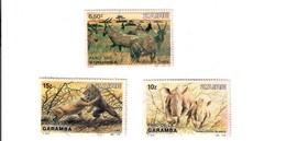 Zaire 1982-1984 Fauna 3 Valori Fra.1197 - Francobolli
