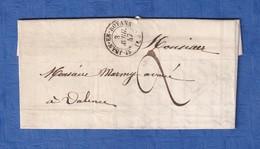 Lettre Ancienne De 1847 - Cachet De Départ SAINT JEAN En ROYANS - Signé Lamberton - Envoi à M. Marmy Avoué à Valence - Poststempel (Briefe)