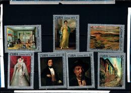 6584B)  CUBA 1973-OPERE D'ARTE DEL MUSEO S. DI CUBA - SERIE COMPLETA -MNH** - Cuba