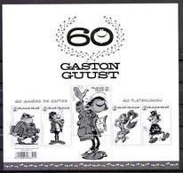 GCA 22 Guust Flater Gaston Lagaffe Zwart Wit Velletje 2017 - Feuillets Noir & Blanc