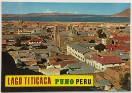 (791) Peru - Puno - Panoramic View Background Titicaca Lac - Pérou