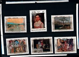 6585B)  CUBA 1975-OPERE D'ARTE DEL MUSEO NAZIONALE - SERIE COMPLETA -MNH** - Cuba