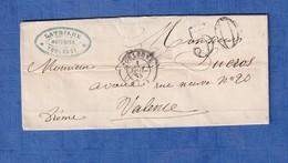 Lettre Ancienne De 1858 - TOULOUSE - Cachet & Signature LATRILHE Huissier - Hôtel De La Poste Aux Lettres - Marcophilie (Lettres)