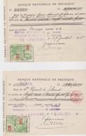 Belgique, Chèque De Banque. - Chèques & Chèques De Voyage