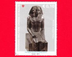 Sovrano Militare Ordine Di Malta - SMOM - Usato - 2011 - Scultura Nell'arte Egizia - 0.10 - Sesostris III - Louvre - Sovrano Militare Ordine Di Malta
