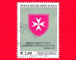 SMOM - Sovrano Militare Ordine Di Malta - Usato - 2007 - Croce Ottagona E Le Beatitudini -  2 € - Sovrano Militare Ordine Di Malta