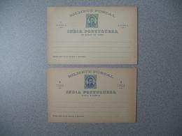 Entier Postal  Portugal - Inde Portugaise  - India Portugueza    Lot De  2  Neuf   à Voir - Inde Portugaise
