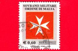 SMOM - Sovrano Militare Ordine Di Malta - Usato - 2005 - Croce Ottagona Bianca Su Fondo Rosso - 0.60 - Sovrano Militare Ordine Di Malta