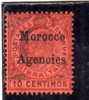 MAROC MAROCCO MOROCCO AGENCIES 1903 1905 KING EDWARD RE EDOARDO CENT. 10c MLH - Oficinas En  Marruecos / Tanger : (...-1958