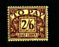 GREAT BRITAIN - 1924  POSTAGE DUES  2/6 WMK  BLOCK CYPHER  FINE USED SG D18 - Tasse